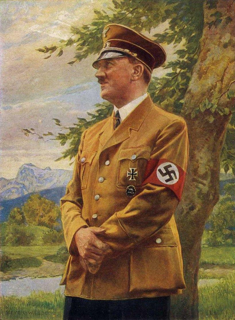 Hitler Oil Painting